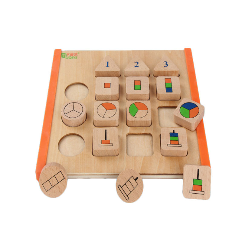 Wooden Montessori Toys Baby Fraction Puzzle Board Educational Baby Learning Toys For Children Juguetes Brinquedos Mj1044h Good Reputation Over The World Home
