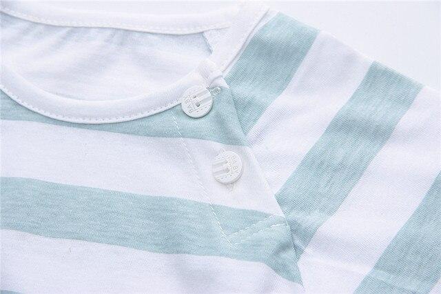 Newborn Clothing Set Casual Summer Baby Set Kids Short Sleeve Sports Set Tshirt Shorts Infant Baby Clothes 6-24Month 1