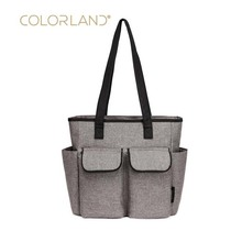 COLORLAND new one-shoulder fashion Mummy bag solid color triangle mobile hand lightly waiting for diaper baby storage ba