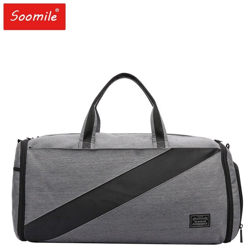 Nouveaux hommes sac de voyage 2 en 1 valise sac de voyage grande capacité pliable sac de bagages en nylon voyage fourre-tout vêtement sac sacs à main