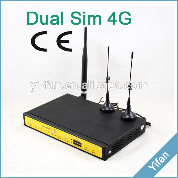 Free Shipping support VPN F3846 LTE dual sim 4G router for ATM, Kiosk