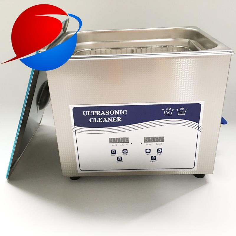 Nettoyeur à ultrasons chauffant de 10 litres élimine rapidement les particules résiduelles avec transducteurs industriels