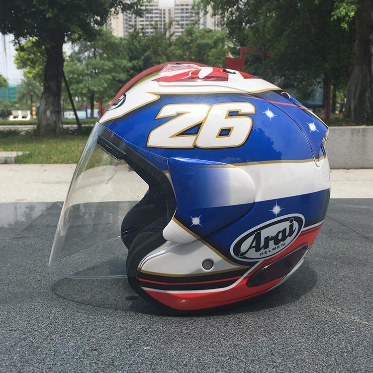 2018 Top Hot Arai Helmet Motorcycle Helmet Half Helmet Open Face Helmet Casque Motocross Size: S M L Xl Xxl,,capacete Rich And Magnificent