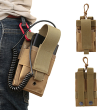 Outdoor Tactical Molle Mobile Phone Bag Charging Treasure Bag Phone Pouch Phone for Belt Vest Waterproof Hunting Storage Bags