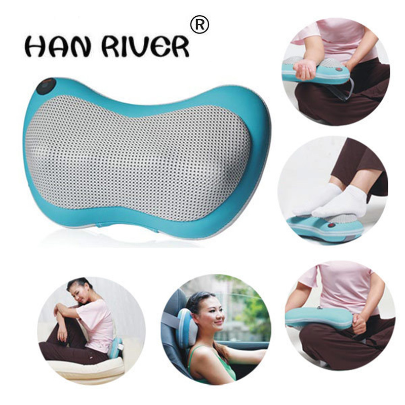 Health products, car and multi-function massager massage pillow neck lumbar leg massager multi function massage pen massager white 1 x aa