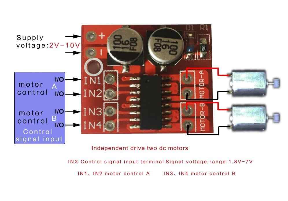 Módulo de Acionamento Do Motor DC PWM Invertendo Duplo H Ponte Stepper Motor de Velocidade Mini Win L298N