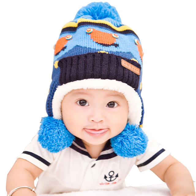 2015 winter new Han edition style fashion warm Knitting wool high quality kids winter hats 0-5 year baby hat
