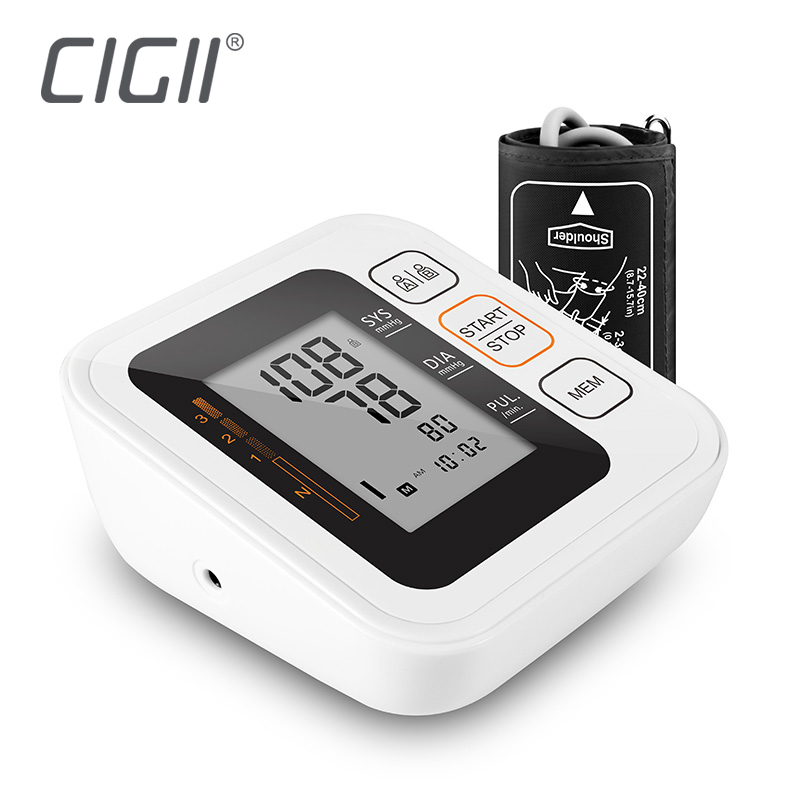 Cigii Health care monitor Portable Digital Upper Arm Blood Pressure Monitor Heartbeat Pulse measurement tool 2 Cuff home care laser light therapy instrument wrist watch type reduce high blood pressure