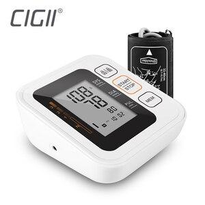 Cigii Health care monitor Portable Digital Upper Arm Blood Pressure Monitor Heartbeat Pulse measurement tool 2 Cuff