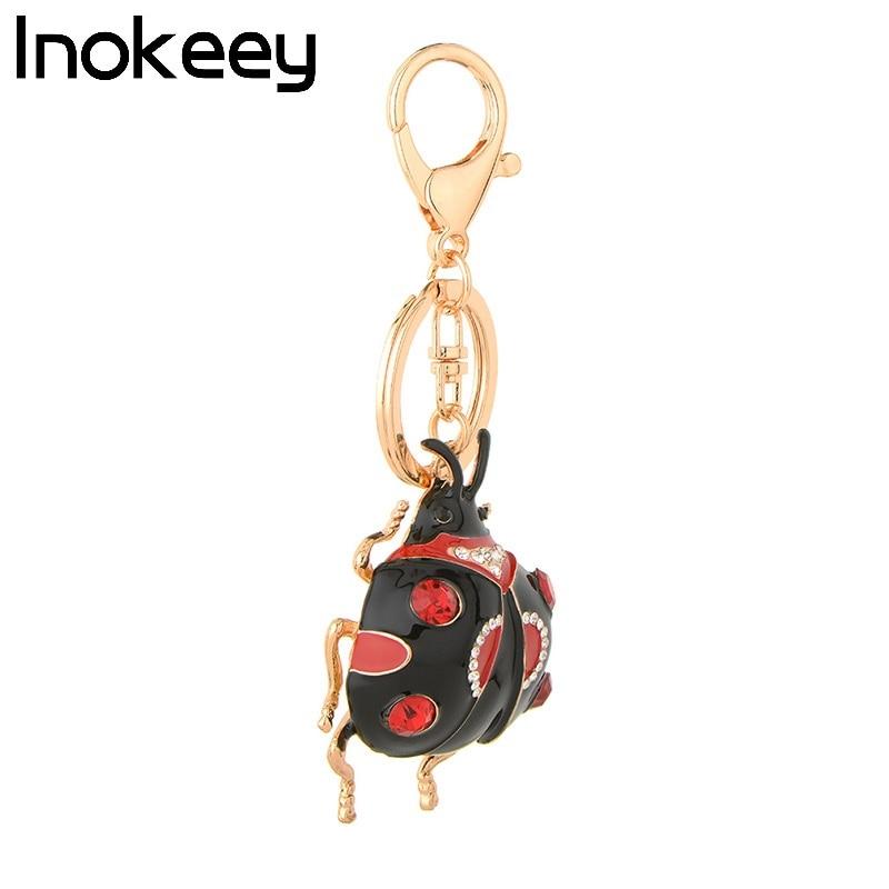 Inokeey Big Red / Black aleación mariquita mujeres bolso llavero - Bisutería - foto 4