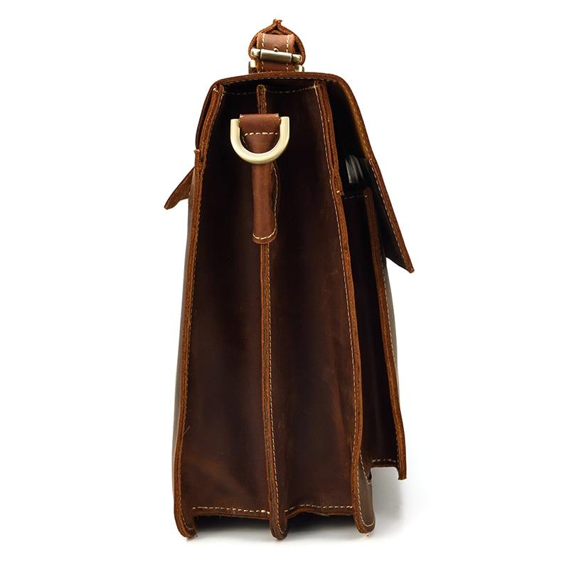 HTB1dg4oQPDpK1RjSZFrq6y78VXak MAHEU Luxury Fashion 100% Genuine Leather Men Briefcase Cow Leather Laptop Bag Vintage Shoulder Bag Real Cowhide Computer Bag