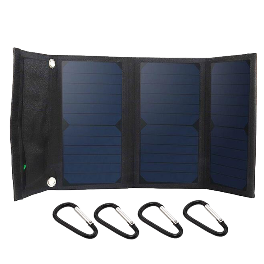5V 21W Foldable Solar Charger Pack Kits Portable Solar Panel Charging For Phone tablet GPS цена и фото
