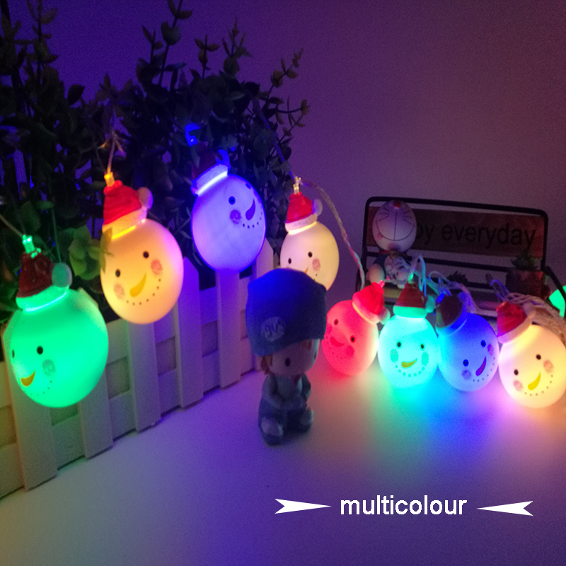 led christmas light garland curtain string lights snowman lamp outdoor connectable 5m 20led ac110 240v for holiday wedding party in led string from lights - Christmas Light Garland