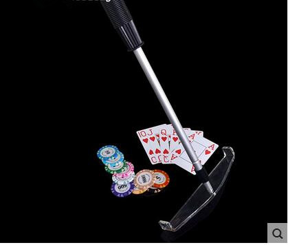 poker chips Grilled target telescopic rod / bar code close tables, poker table accessories