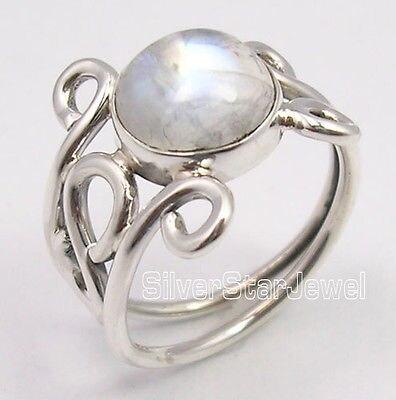 Collectie Hier Puur Zilver Exclusieve Regenboog Maansteen Gem Stedelijke Stijl Ring Elke Grootte Uk Ons
