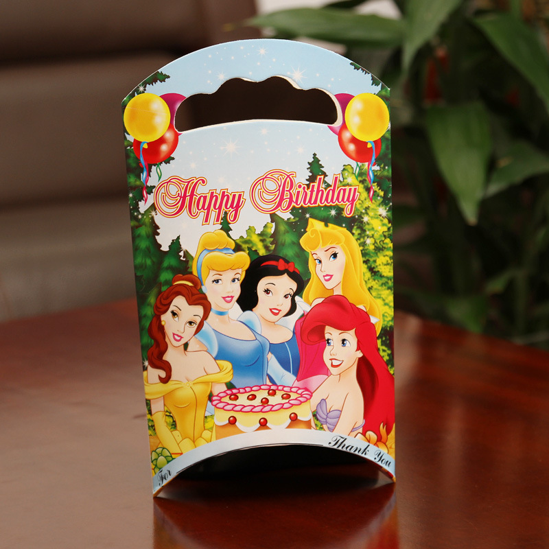 20 X Princess/ Minnie Mickey/ Cars/Kitty Gift Box Kids Birthday Candy Box Baby Shower Favor Gift Bag Party Deco Supplies