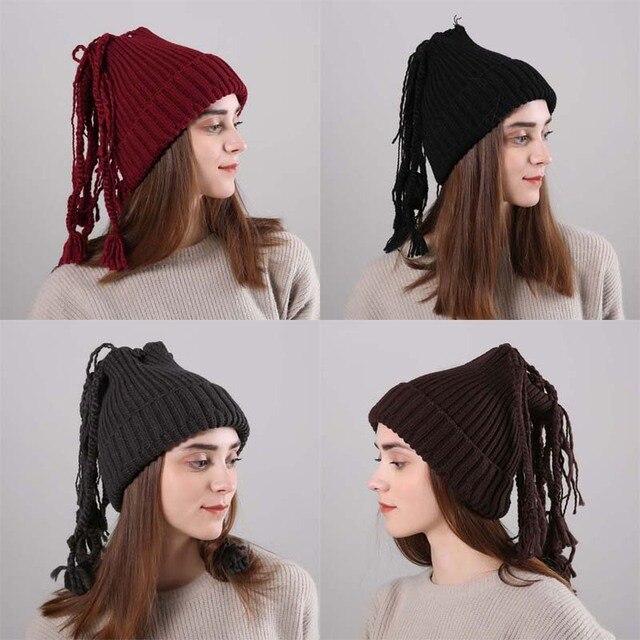 Las mujeres calientes del invierno de punto Beanie Cap lindo tejer ...