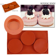 1PC 3 Cavity Silicone Mould Mini Cake Pie Custard Tart Resin Coaster Baking Mold Kitchen Tool