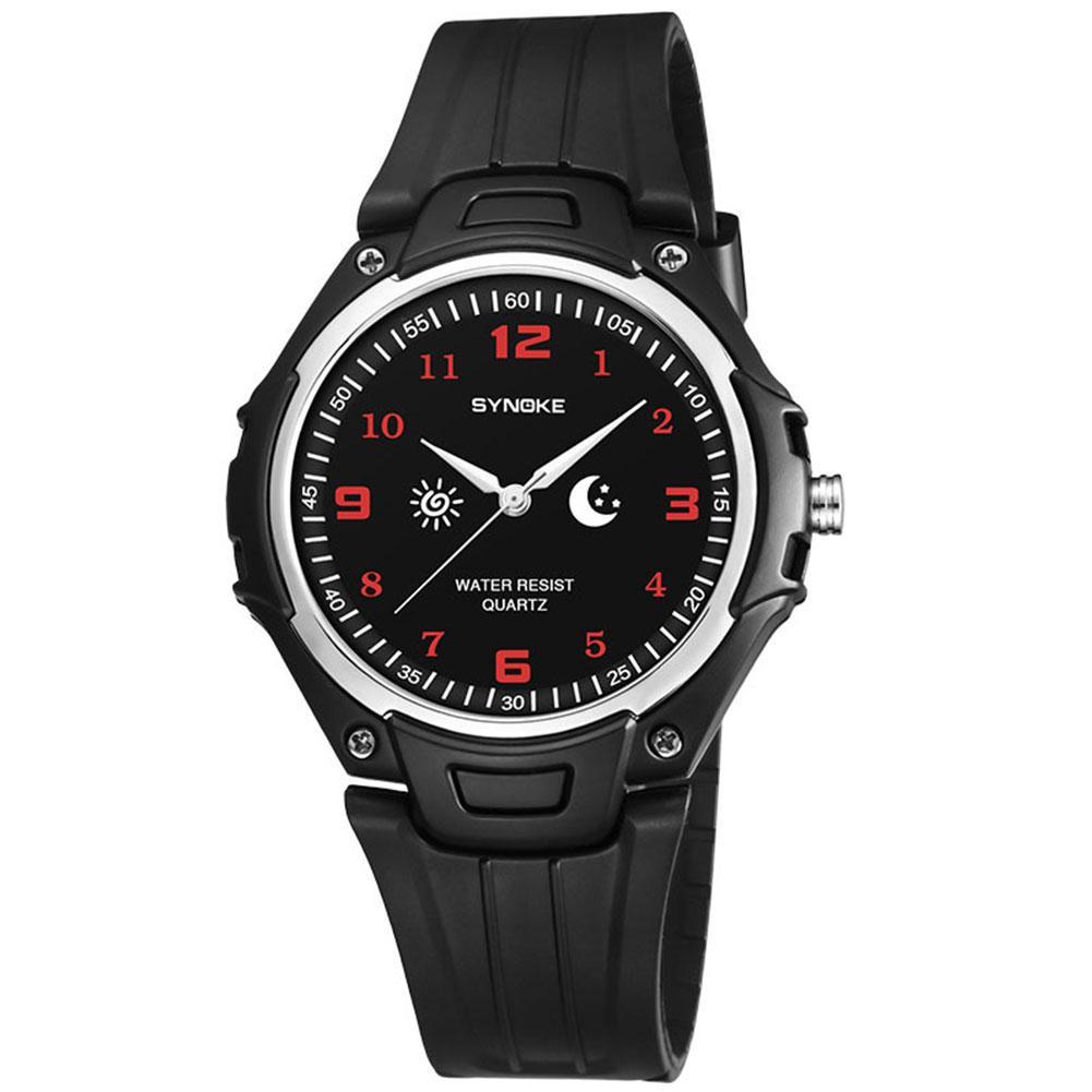 Casual Männer Jungen Runde Zifferblatt Arabische Zahlen Pin Schnalle Analog Quarz Armbanduhr Pin Schnalle Strap Hot In Den Spezifikationen VervollstäNdigen Digitale Uhren