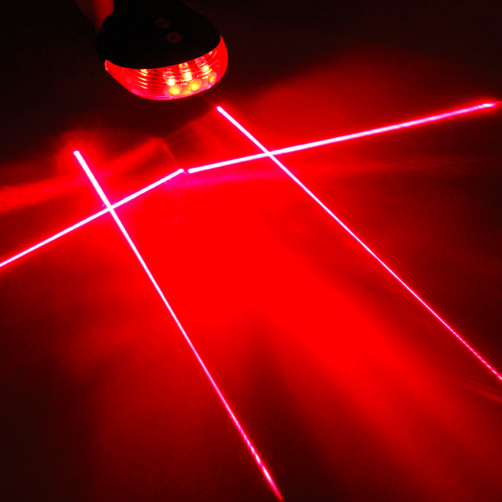 Hot 5 LED Ultra Bright Laser Beam MTB Mountain Bicycle Bike Cycling Rear Tail Warning Lamp Light Bike Accessories