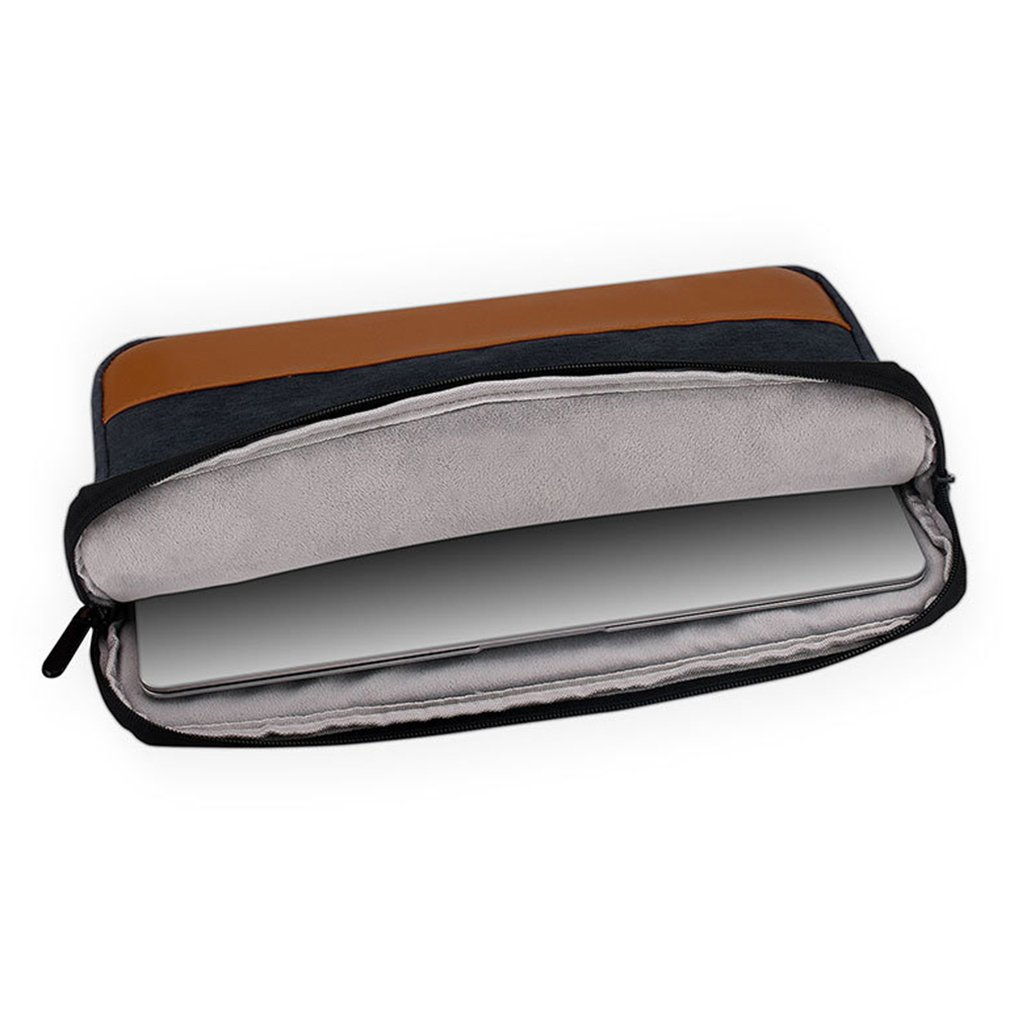 Black A001 Oxford Style Fashionable Laptop Notebook Sleeve Case Carry Bag Shockproof Handbag Suitable For Macbook