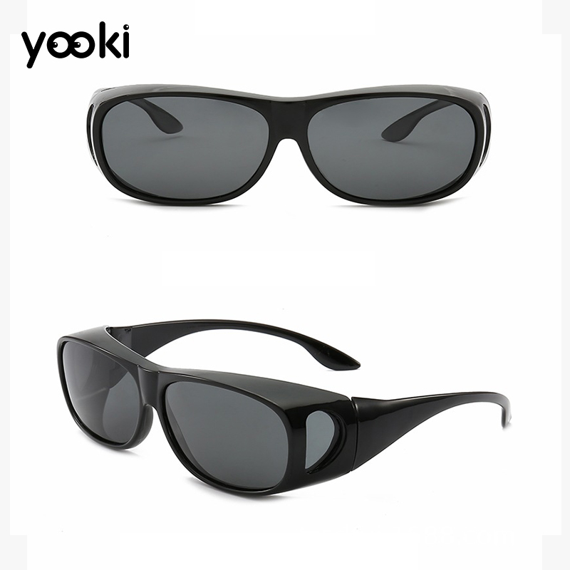 Fit Over Sunglasses Polarized Lens Cover Rx Glasses UV Protect Night Vision Optical Eyewear Driving Sunglasses(China)