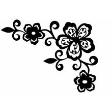 16*12CM 꽃 창 장식 비닐 데 칼 오토바이 자동차 스티커 C4-0922