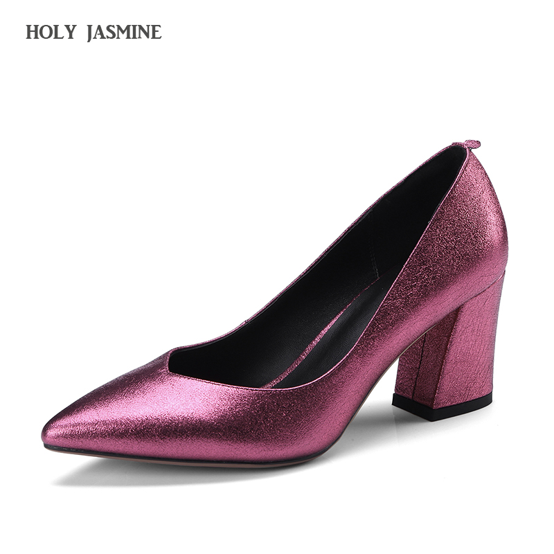 2018 Spring/Autumn New Pointed toe 7cm High Heels Leather Shoes Shallow Elegant Fashion Shoes Spring Summer Shallow Women Pumps top sale spring women fashion pumps high heels shallow mouth fine with floral elegant pointed toe ol shoes work wear comfortable