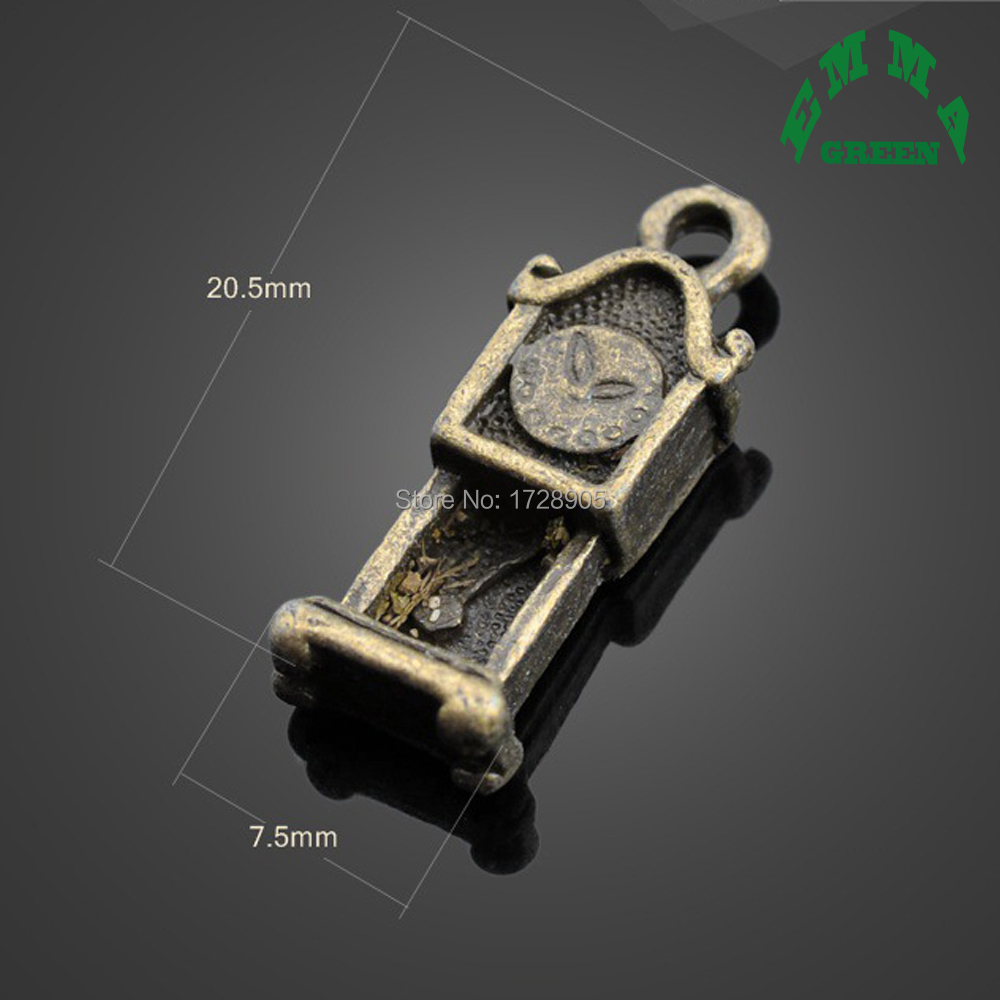 Free ship retro style The hourglass alloy charms pendants 16*7mm