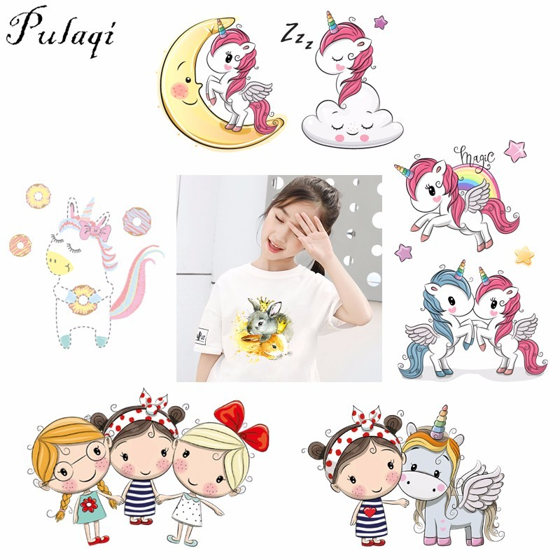 Pulaqi Flower Cartoon Unicorn Patches For Clothes Wholesale Thermal Transfer Patches Iron On Transfer T-shirt Dresses Washable H Attractive Fashion Home & Garden Arts,crafts & Sewing