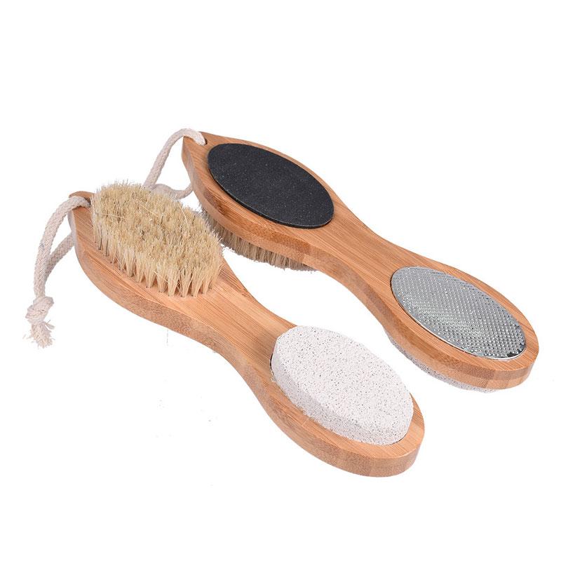 4 In 1 Foot Massage Brush Shower Brush Body Bath Protection Feet Pads Rub Feet Stone Wash Feet Brush