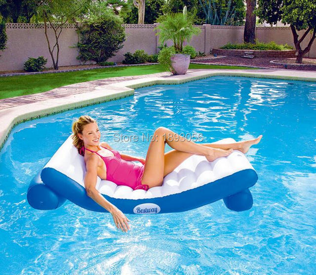 Bestway43107 Swimming Pool Floating Lounge Island Water Sofa Float  Inflatable Air Bed Backrest Water Park Supplies