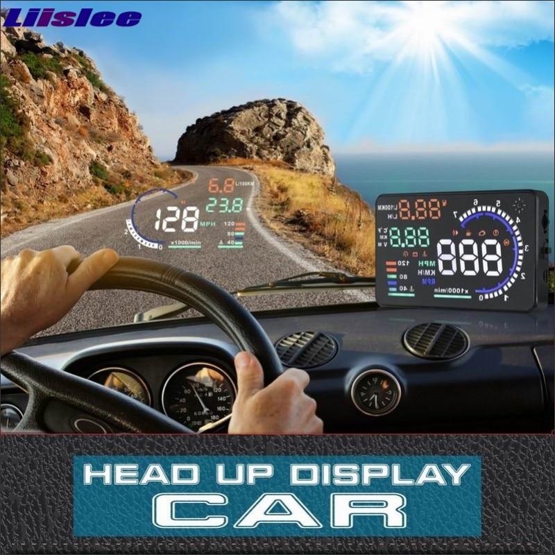 Liislee pour Hyundai Genesis 2015 2016 voiture HUD sûr lecteur affichage-rechargement pare-brise tête haut écran projecteur