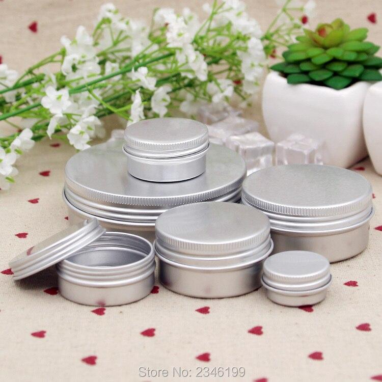 Güzellik ve Sağlık'ten Doldurulabilir Şişeler'de 50g 100g 50 adet/grup DIY kozmetik krem kutusu, Boş Alüminyum Kavanoz Tıbbi Merhem için, Metal Alüminyum Kozmetik Kutusu'da  Grup 1