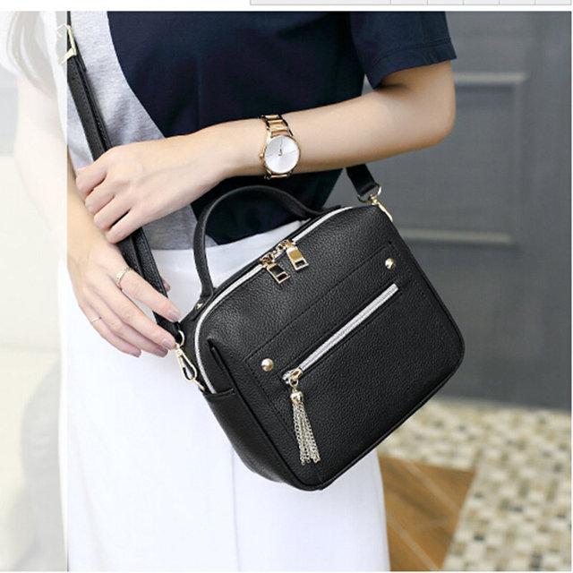 High Quality PU Leather Women Top-handle Bag Small Women Messenger Bag Girls Shoulder Bag Fashion Women Bags