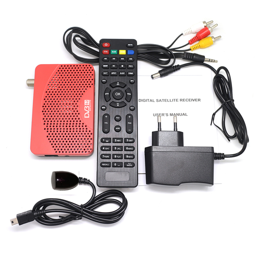 Image 5 - Vmade  small S2 Receiver DVB S2 mini HD Digital Satellite  Receptor full HD 1080P DVB TV BOX with USB wifi dongle & 1 year Cccam-in Satellite TV Receiver from Consumer Electronics