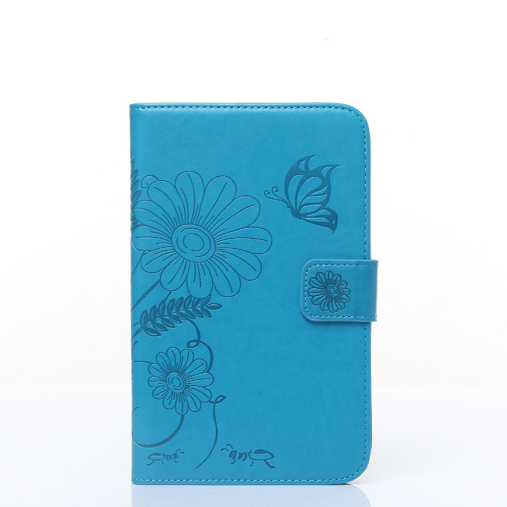 New Fashion high quality Carved PU leather case For Samsung Galaxy Tab 4 SM-T230 T231 T235 7 Tablet smart case+pen