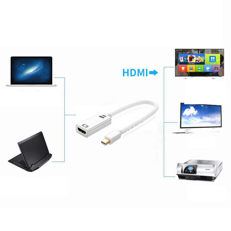 4 k * 2 k mini displayport hdmi adaptador dp para hdmi conversor cabo de exibição porto dp cabo para apple mac macbook pro ar