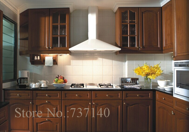 Teak Wood Kitchen Cabinet Foshan Furniture Factory High Quality Solid Cabinets