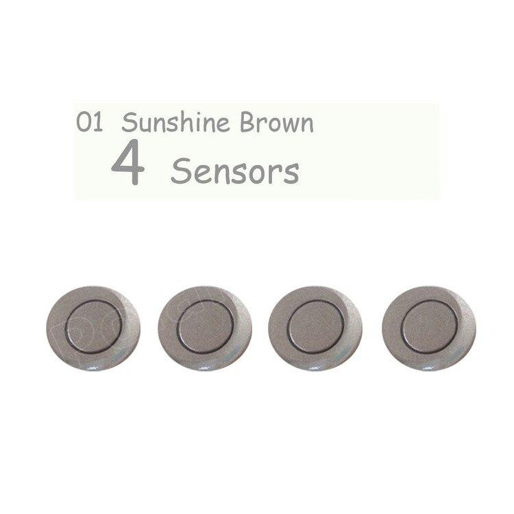 Car Reverse Assistance 4 Sensors 4 pieces not include radar accessory DC 12V 22mm Car Parking Sensor 2018 newest