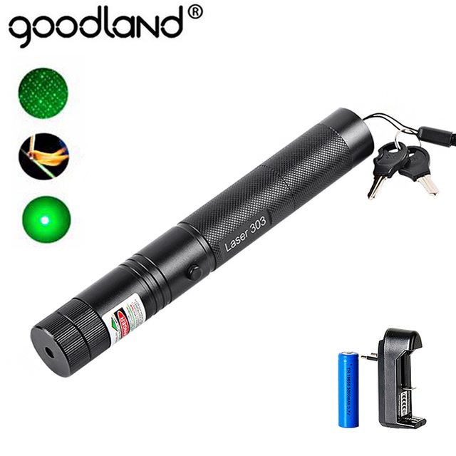 5 mW לייזר מצביע כולל סוללה 18650 גבוהה כוח 532nm 303 ירוק עט פנס גלוי קרן אור LED לפיד
