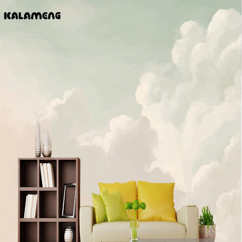 KALAMENG 3D Mural Wallpapers Custom Painting Oil Paint Cloud Design Background Bedroom Living Room Wall Murals Papel De Parede iarts aha072962 hand painted thick texture of knife painting trees oil painting red 60 x 40cm