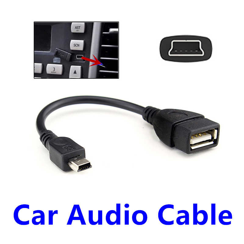 FFFAS Car Audio Cable Mini Port OTG Cable Adapter Auto USB Flash U Disk Music V3 Line for Autocar Automobile Parts Wholesale