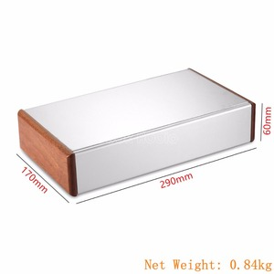 Image 5 - Aluminum Chassis Amplifier Case Wooden Side Panel Box Mini Enclosure DIY House