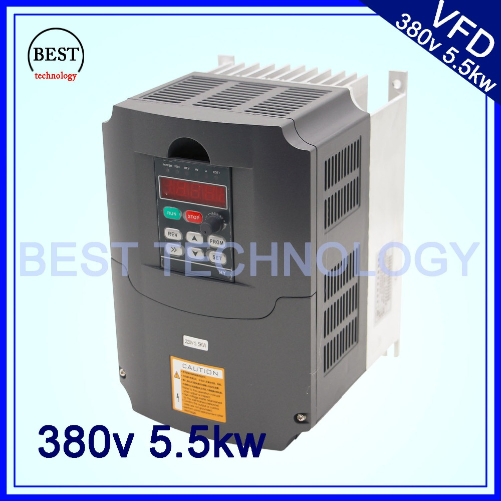 380v 5.5kw  VFD Variable Frequency Drive  Inverter / VFD 3HP Input 3HP Output CNC spindle  Driver spindle speed control 220v 5 5kw vfd variable frequency drive vfd inverter 3hp input 3hp output cnc spindle motor driver spindle motor speed control