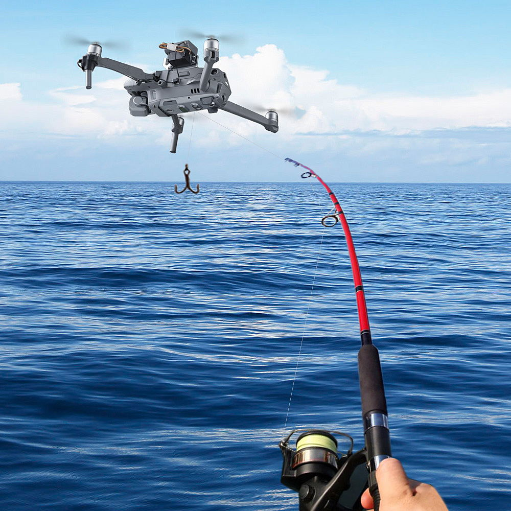 Air-Dropping Thrower System Wedding Ring Gift Emergency Remotely Delivery Rescue Fishing for DJI Mavic 2 Pro Zoom Drone Thrower (Black)
