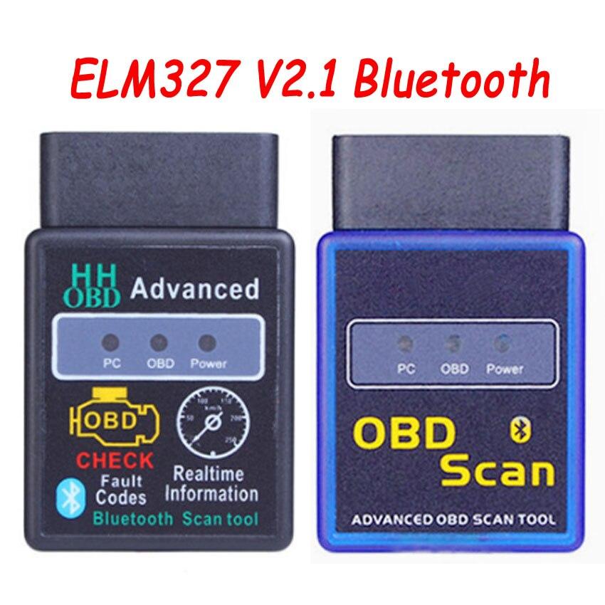 2019 New HH OBD ELM327 V2.1 Bluetooth Mini OBD2 Car Diagnostic Tool ELM 327 Bluetooth For Android/Symbian For OBDII Protocols
