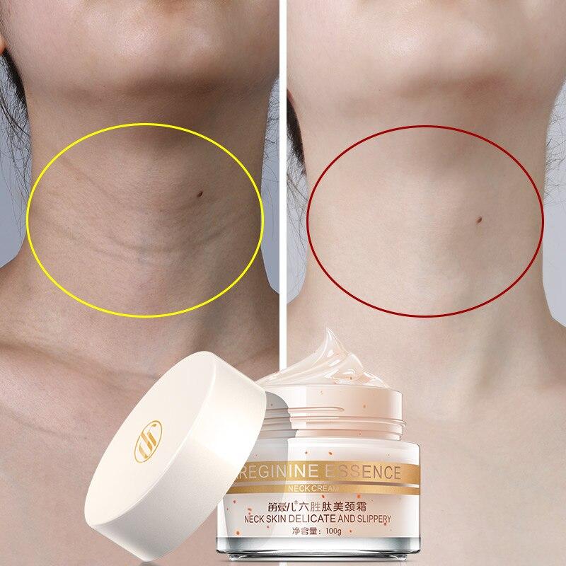 100g seis péptidos cuello crema Anti arrugas quitar el cuello que blanquea la máscara reafirmante cuello máscara cuidado de la piel delicada y resbaladizo