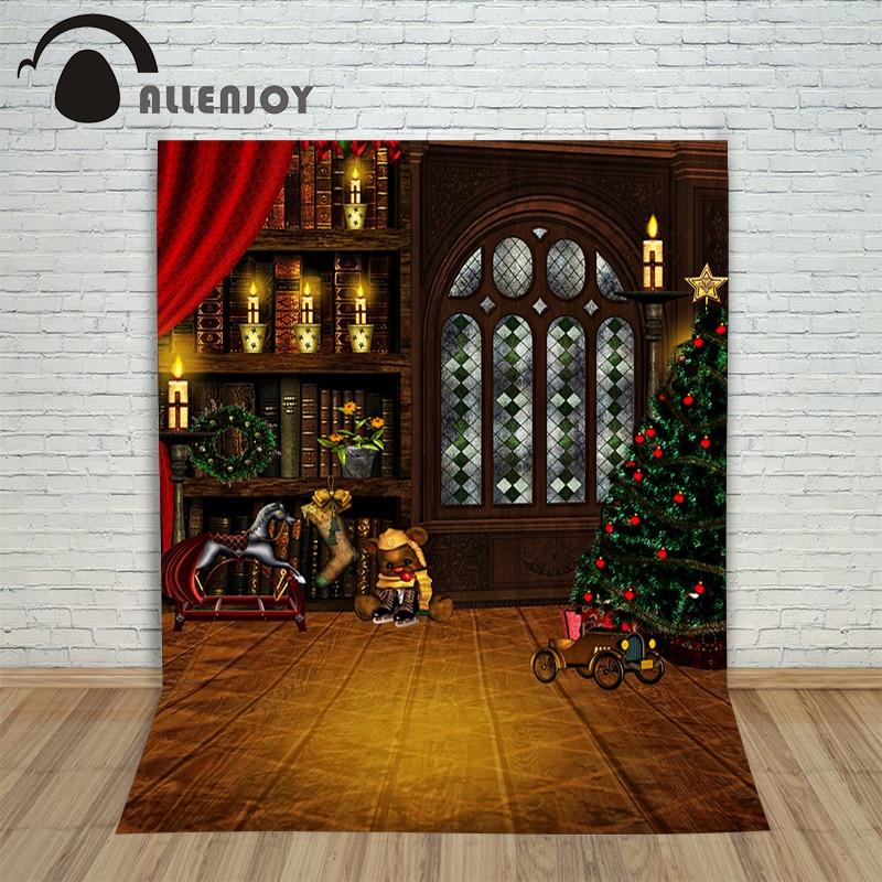 Background vinyl christmas Cle window ball wood newborn photo studio photocall decoration cloth