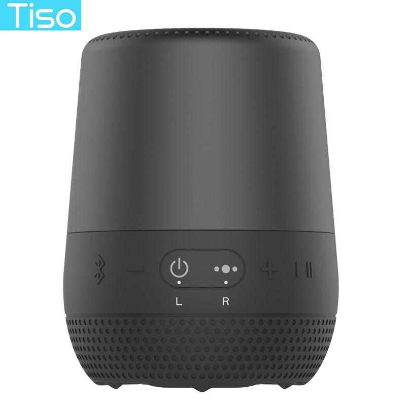 Tiso T30 30 heures de lecture sans fil Bluetooth V4.2 haut-parleur 8 w haut-parleur portable IPX6 étanche AUX TF TWS avec microphoe